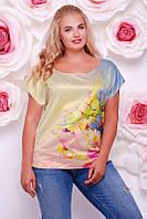 Женская футболка FB-1353G размеры 50-56