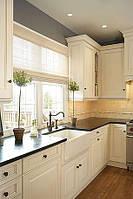 Черная кухонная столешница из акрилового камня