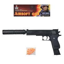 Пистолет К2011-В+ с лазером и глушителем, пульками