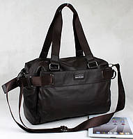 Мужская кожаная сумка коричневая формата А4
