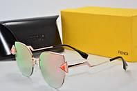 Солнцезащитные очки круглые Fendi розовые