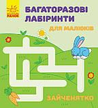 Комплект «Багаторазові лабіринти для малюків». 4 книги, фото 4