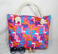 Стильная вместительная сумка для девушки из плащевки