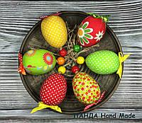 """Набор мягких игрушек ручной работы """"Яйца пасхальные"""" - 6шт"""