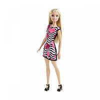 Кукла Барби супер стиль в белом платье с узорами. Оригинал Mattel