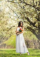 Женское летнее платье на бретельках