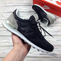 Кроссовки Nike Internationalist Leather Черно-серые