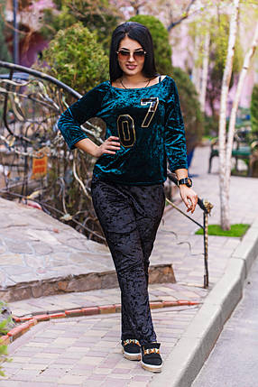 Д1257 Велюровый костюм  размеры 50-52, фото 2