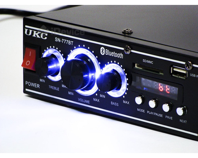 Усилитель (ресивер) UKC SN-777BT c Bluetooth, MP3/SD/USB/AUX/FM