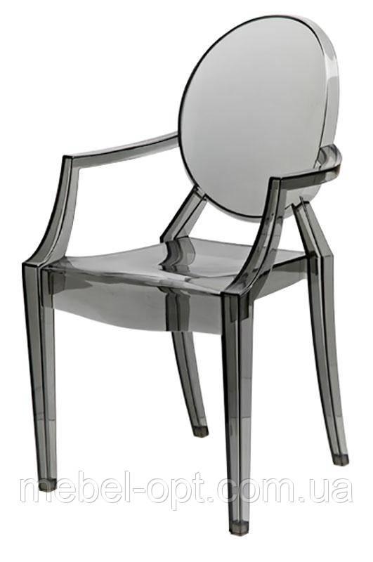 Дизайнерский стул Каспер (Дорис) прозрачный гранит - копия Philippe Starck Louis Ghost Armchair Chair