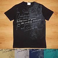 Мужская футболка с надписями M-XXL Турция код 185