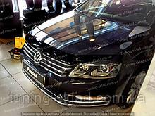 Дефлектор Фольксваген Пассат Б7 (мухобойка на капот Volkswagen Passat B7)