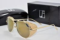 Солнцезащитные очки  Linda Farrow в золотой оправе, фото 1