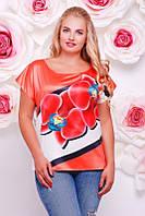 Женская футболка орхидеи FB-1353C размеры 50-56