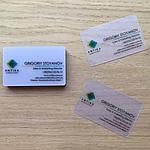 Оригинальные и долговечные визитки — визитки из пластика