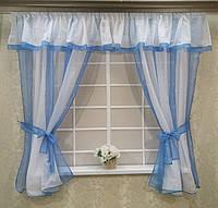 """Кухонные шторы - """"Прованс"""", голубой"""