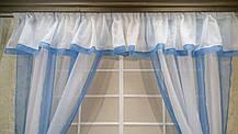 """Кухонные шторы - """"Прованс"""", голубой, фото 3"""