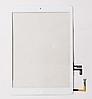Тачскрин / сенсор (сенсорное стекло) для Apple iPad Air | iPad 5 (белый цвет, с кнопкой Home, самоклейка)