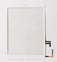 Тачскрин / сенсор (сенсорное стекло) для Apple iPad Air | iPad 5 (белый цвет, с кнопкой Home, самоклейка), фото 1