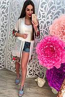 Женская летняя накидка с вышивкой , фото 1