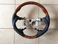 Руль Toyota Camry V40 (2006-2012) ( черная кожа + дерево) Sport-type, фото 1