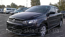 Дефлектор Volkswagen Polo 5 SD/HB (мухобойка Фольксваген Поло 5 с 2009г)