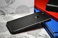 """Виниловая наклейка """"Чёрная кожа"""" Iphone 5/5S/5SE (задняя часть) 0,17 mm"""