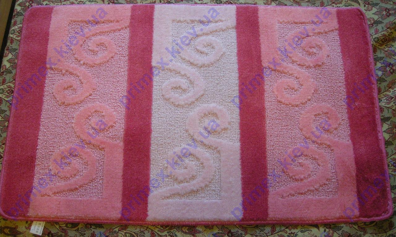 Коврики для ванной комнаты Узор, цвет-розовый. Коврик для ванной купить