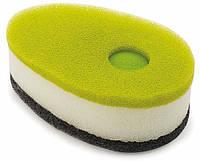 Губка для посуды с капсулой для моющего Joseph Joseph Soapy Sponge 3 шт. зеленая
