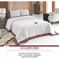 Покрывало хлопковое U.S. Polo Assn - Stamford multi 240*260 н.50*70(2)