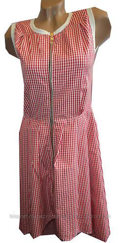 Платье женское клетка змейка (лето)