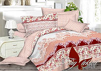 Классическое постельное белье полуторка из сатина Узоры