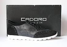 Шикарные кожаные кроссовки-сникеры Cadoro Venezia, Италия-Оригинал