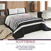 Покрывало хлопковое U.S. Polo Assn - Scottsdale multi 180*250 н.50*70(2)