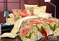 Модное постельное белье 1,5 набор из сатина Тюльпаны