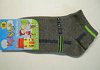 Летние детские носки темно-серого цвета короткие