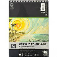 Альбом для рисования Acrilic Color Pad А4 спираль, 16 л
