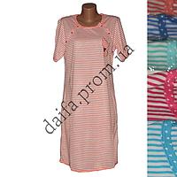 Женская котоновая ночная рубашка D44 (р-ры 46-52) оптом со склада в Одессе.