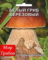 Мицелий порошковый маточный Белый гриб березовый, 10г.