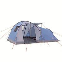 Палатка туристическая 4 х местная с тамбуром Pinguin Omega 4, арт. PNG 1303-син