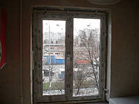 Двухстворчатое металлопластиковое окно Рехау Евро 60