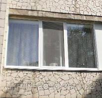 Металлопластиковое трехстворчатое окно ALMPlast недорого Киев