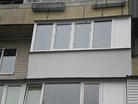 Балкон Rehau Euro 60 в Киеве заказать. Лоджия Рехау Киев цена.