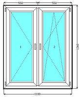 Металлопластиковое окно со штульповым открыванием КВЕ в Киеве. Окна Киев. Цены на окна Киев