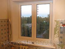 Металлопластиковое окно со штульповым открыванием Rehau Euro 70 в Киеве купить