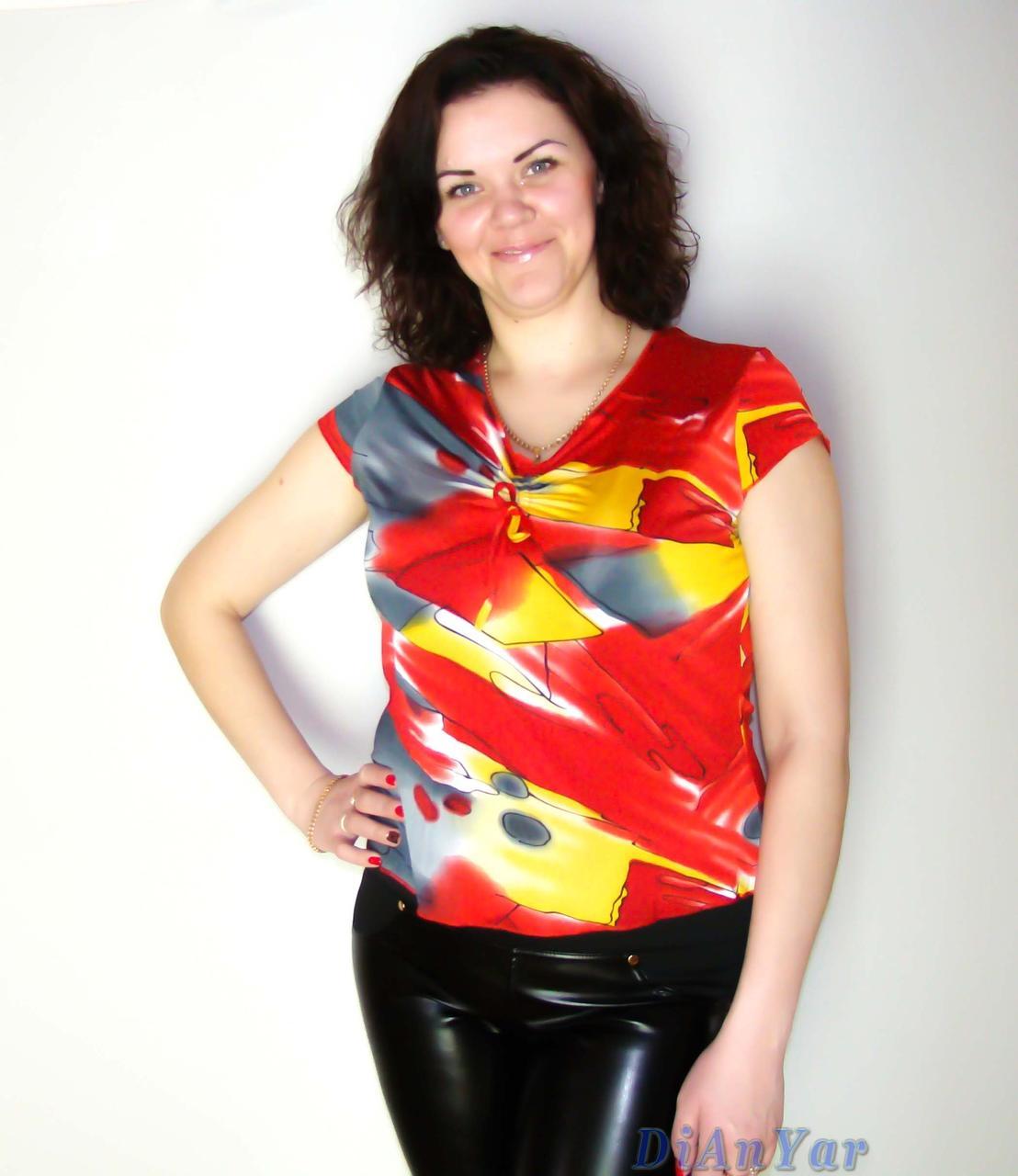 Блузка женская батальная NATALI
