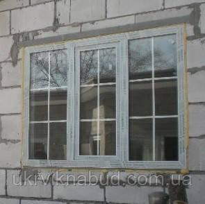 d2c5326bc Металлопластиковое окно Salamander со шпроссами. Окна Киев. Цены на окна  Киев