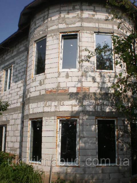 Одностворчатое металлопластиковое окно с открыванием Rehau Euro 60 Киев