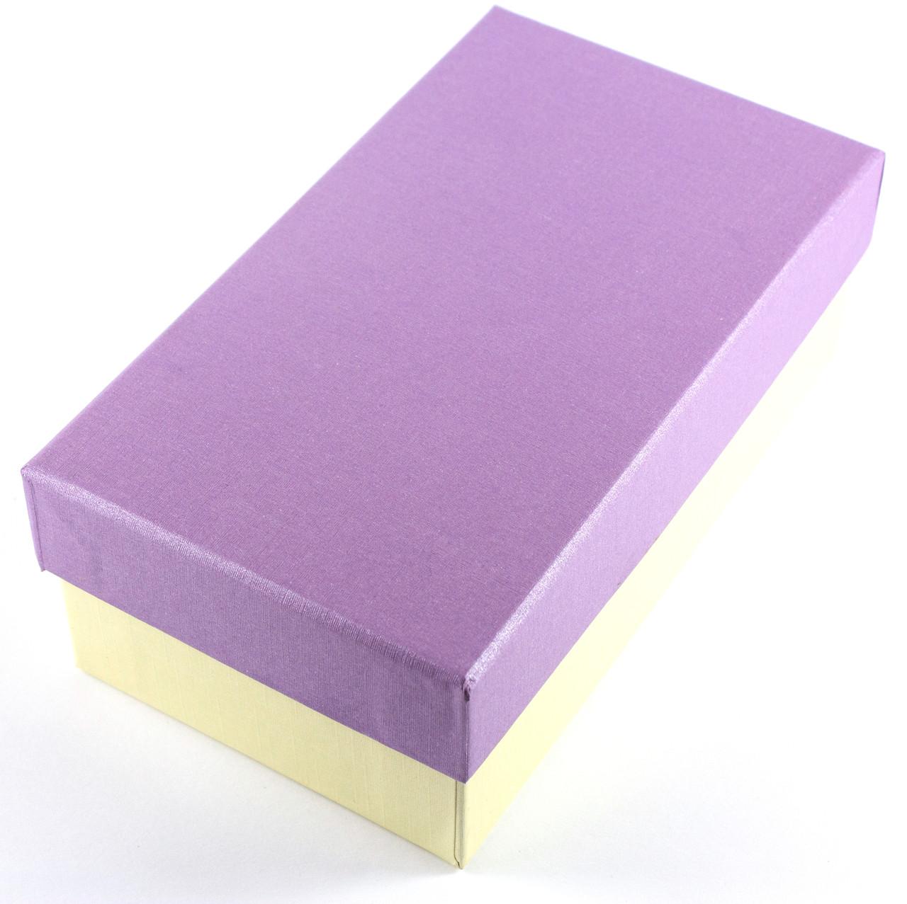 Подарочная коробка прямоугольная 15.5 x 9 x 6 см сиреневая