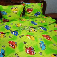 Детский постельный комплект в кроватку Тачки